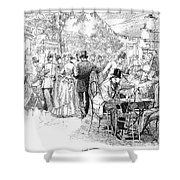 Caf� Tortoni Shower Curtain