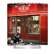 Cafe De Mexicana Panhandlers Shower Curtain