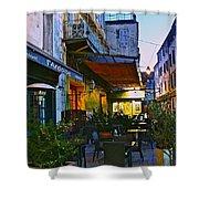 Cafe Terrace On The Place Du Forum Shower Curtain