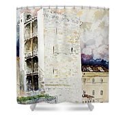 Cagliari - Torre Dell'elefante Shower Curtain