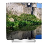 Cahir Castle, River Suir, County Shower Curtain