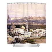 Cairo From The Gate Of Citizenib  Looking Toward The Desert Of Suez Shower Curtain