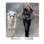 Calf Competition Shower Curtain