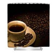 Calgary, Alberta, Canada Coffee Beans Shower Curtain