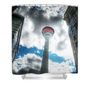 Calgary Tower Hdr Shower Curtain