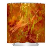 Caliente On Fire With Butterflies Shower Curtain
