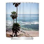 California Coastline Photo Shower Curtain