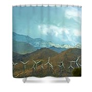 California Desert In Winter Shower Curtain