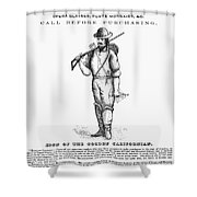 California Gold Rush, 1855 Shower Curtain