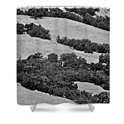 California Hillside Oaks Shower Curtain