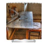 California Mission La Purisima Desk Shower Curtain