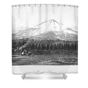 California: Mount Shasta Shower Curtain