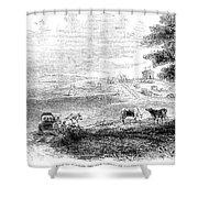 California: Vallejo, 1852 Shower Curtain