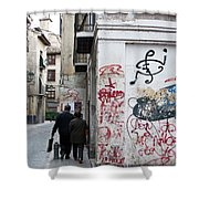 Calle Alvaro De Bazan Graffiti Shower Curtain