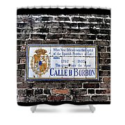 Calle D Borbon Shower Curtain