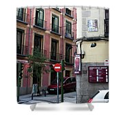 Calle De Vergara Madrid Shower Curtain