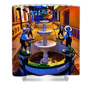 Calle Del Recuerdo Shower Curtain