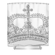 Calligraphy Crown Shower Curtain