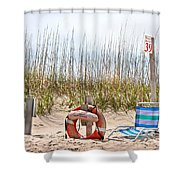 Calm By The Sea Shower Curtain