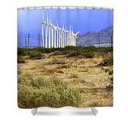 Calm Wind Palm Springs Shower Curtain