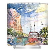 Calpe Harbour 04 Shower Curtain