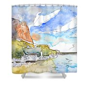 Calpe Harbour 06 Shower Curtain
