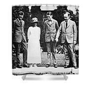 Calvin Coolidge & Family Shower Curtain