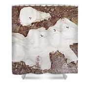 Camarasaurus Vertebrae Covered Shower Curtain