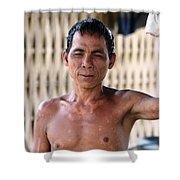 Cambodian Dignity Shower Curtain