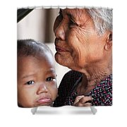 Cambodian Grandmother And Baby #1 Shower Curtain