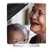 Cambodian Grandmother And Baby #2 Shower Curtain