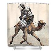 Camel & Rider Shower Curtain