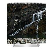 Cameron Falls Waterton Lakes National Park Shower Curtain