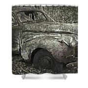Camouflage Classic Car Shower Curtain