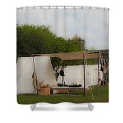 Camp At Goliad Shower Curtain