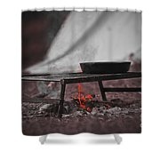 Camp Fire  Shower Curtain