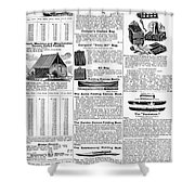 Camping Equipment, 1895 Shower Curtain