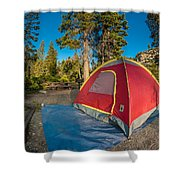 Camping In The Forest Shower Curtain