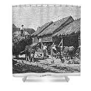 Canada: Farming, 1883 Shower Curtain