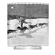 Canada: Fur Trade, 1892 Shower Curtain