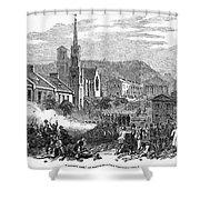 Canada: Gavazzi Riot, 1853 Shower Curtain