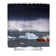 Canadian Coastguard Icebreaker Visiting Shower Curtain