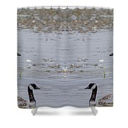 Canadian Goose Symmetry Shower Curtain