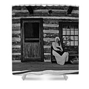 Canadian Gothic Monochrome Shower Curtain