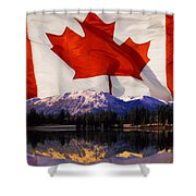 Canadian Mountains Shower Curtain