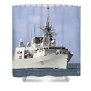 Canadian Navy Halifax-class Frigate Shower Curtain
