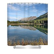 Canadian Rockies Rocky Mountain Lake Shower Curtain