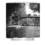 Canal Of St. Martin Bw Shower Curtain