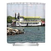 Canandaigua Lady Paddleboat Shower Curtain