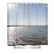 Canandaigua Lake Panorama Shower Curtain